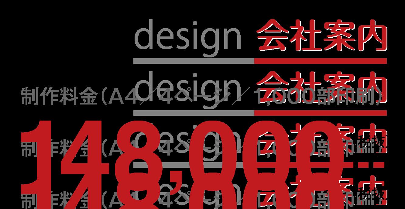 制作料金(A4/4ページ/1,000部印刷)148,000円